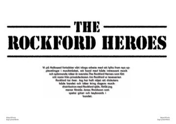 The Rockford Heroes - Hallowed.se