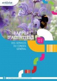 Rapport d'activités 2009 PDF - Ardèche