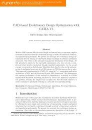 Cad-based Evolutionary Design Optimization with ... - Dynardo Gmbh