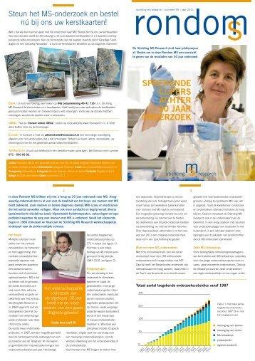 Sprekende cijferS achter 30 jaar onderzoek - Stichting MS Research