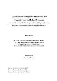 Eigenschaften biologischer Materialien zur Simulation menschlicher ...