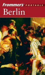 Frommer's Portable Berlin, 3rd Edition - TiERA