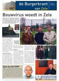 Bouwvirus woedt in Zele - Open VLD Zele