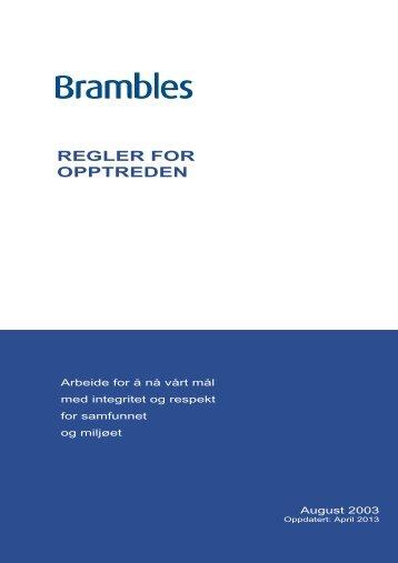 REGLER FOR OPPTREDEN - Brambles Limited