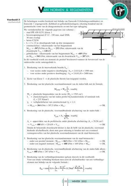 Voorbeeld 1 Staal Beton