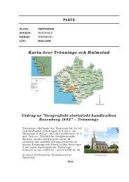 Karta över Trönninge och Halmstad