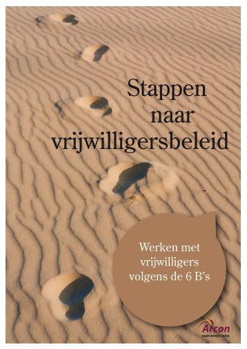 Stappen naar vrijwilligersbeleid - Kennisbank vrijwilligerswerk Fryslân