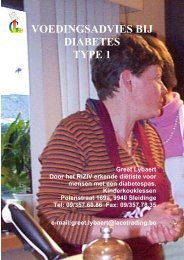 VOEDINGSADVIES BIJ DIABETES TYPE 1 - Aan de kook