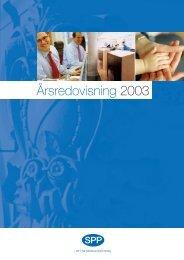 Årsredovisning 2003 - SPP