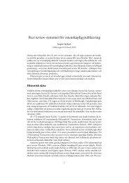 Jesper Jerkert: Peer review-systemet för vetenskaplig publicering