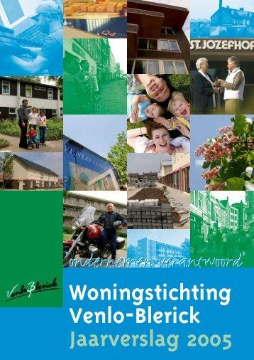 Woningstichting Venlo-Blerick Jaarverslag 2005 2005 - Woonwenz