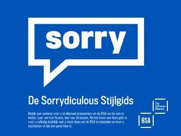 Download de Sorrydiculous Stijlgids - BSA   The Software Alliance
