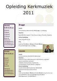 FOLDEROpleiding kerkmuziek in Brugge en Leuven - Koor & Stem