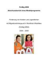 FörMig NRW Abschlussbericht eines Modellprogramms - RAA NRW