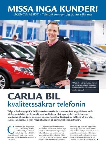 CARLIA BIL - Licencia Telecom AB