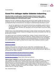 Grand Prix-deltager støtter diabetes-indsamling - Diabetesforeningen