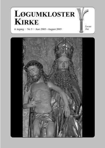 """Kirkeblad """"rg 6 nr 3 - Løgumkloster Kirke"""