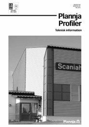 Plannja Teknisk info profiler