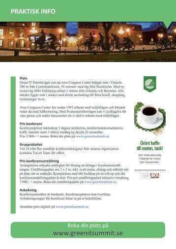 praktisk info - Green IT Summit Västerås