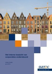 Het interne toezicht van corporaties ondersteund - Vtw