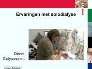 Ervaringen met solo thuis hemodialyse Wil Jansen
