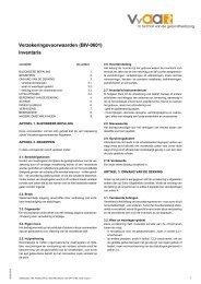Verzekeringsvoorwaarden (BIV-0601) Inventaris - VvAA