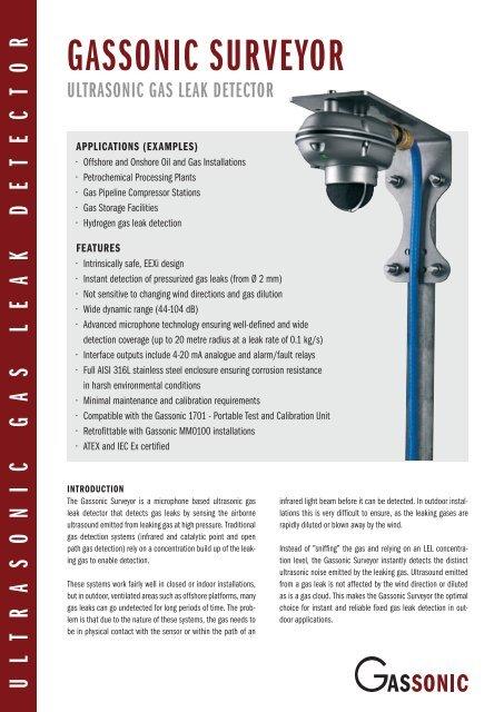 Gassonic Surveyor Gas Leak Detector