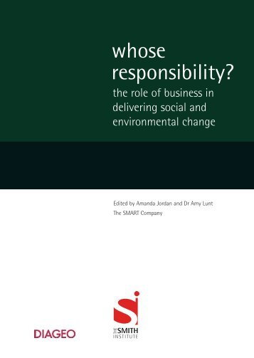 whose responsibility? - Smith Institute