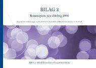 BILAG 2 : Kontrolplots per afdeling 2009 - DBCG