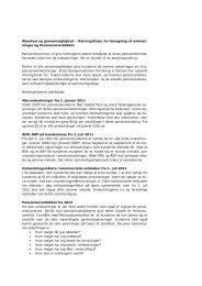 Retningslinjer for beregning af omkost - Forsikring & Pension