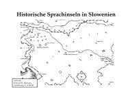 Historische Sprachinseln in Slowenien - Sprachinselverein