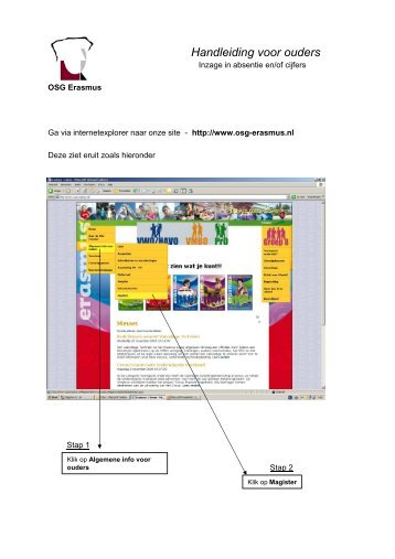 Handleiding Magister ouders - OSG Erasmus