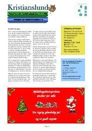 Beboerinformation nr. 2 december 2009 - Boligselskabet Sjælland