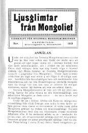 Ljusglimtar från Mongoliet 1919