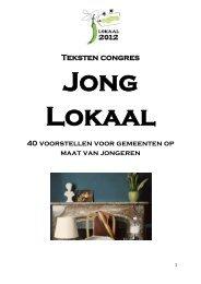 Teksten congres - Jong Groen