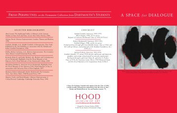 A SPACE for DIALOGUE - Hood Museum of Art - Dartmouth College