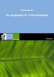 Toelichting wijzigingsplan De Jonghlaan - Gemeente Westland