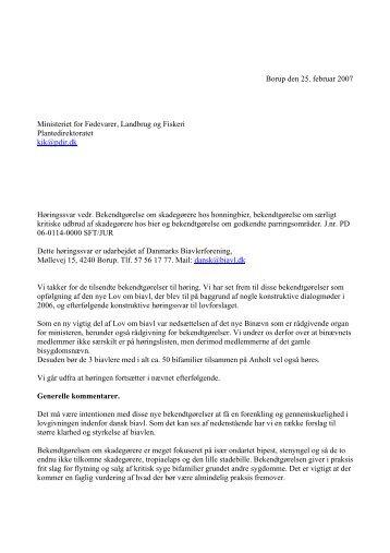 Forslag til høringssvar ang - Net