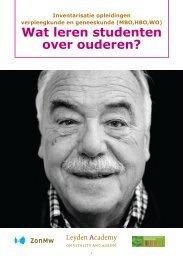 Wat leren studenten over ouderen? - Leyden Academy