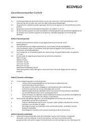 Garantievoorwaarden EcoVelo