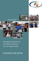 JAARVERSLAG I 2009 I - Algemene Inspectie