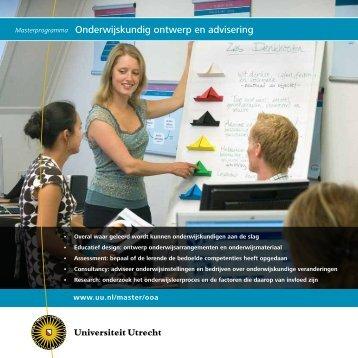 Masterprogramma Onderwijskundig ontwerp en advisering
