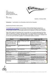 Inventarisatie Fietsersbond fietspaden in en rond ... - Rondje Haarlem