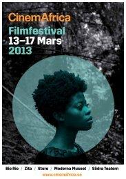 Filmfestival 13–17 Mars 2013 - CinemAfrica