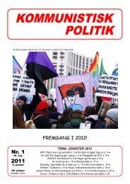 Kommunistisk Politik 1, 2012
