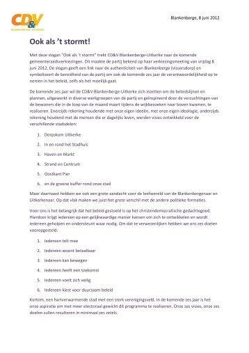 2012-06-08 Persbericht CD&V Blankenberge-Uitkerke onthult ...