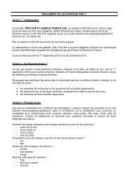 REGLEMENT DU JEU PANTENE PRO V Article 1 – Organisation La ...