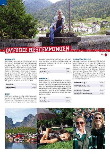 Brochure schooljaar 2013-2014 downloaden - Into Study Exchanges