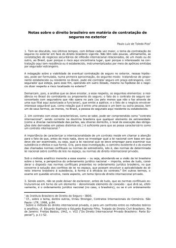 Notas sobre o direito brasileiro em matéria de contratação de ... - IBDS