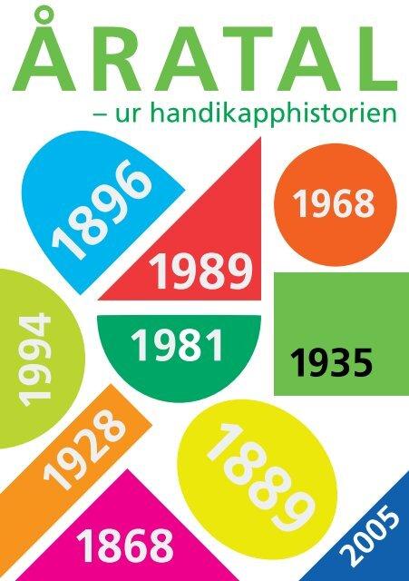 Åratal ur handikapphistorien - HandikappHistoriska Föreningen
